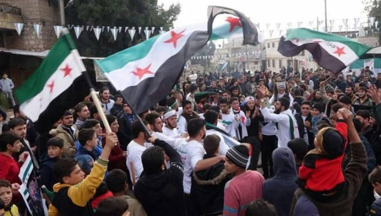 Thousands rally against Assad in northern Syria